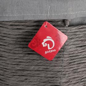 Корзина универсальная плетёная с крышкой «Классик», 43×43×53 см, цвет серый - фото 4636762