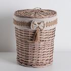Корзина универсальная плетёная «Бантик», 30×30×38 см