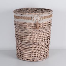 Корзина универсальная плетёная «Бантик», 46×46×56 см