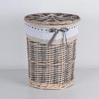 Корзина универсальная плетёная «Бохо», 36×36×46 см