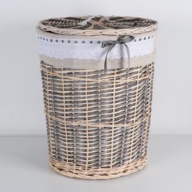 Корзина универсальная плетёная «Бохо», 46×46×56 см