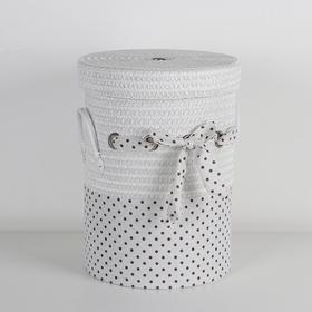 Корзина универсальная плетёная Доляна «Грей», 32×32×41 см, цвет белый