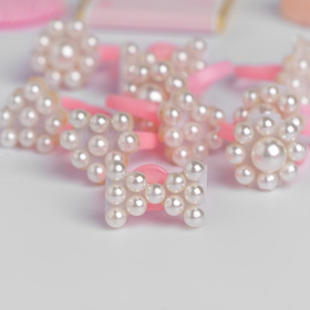 "Ring children's ""Vibracula"" pearls, form MIX, color white"