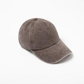 Бейсболка  MINAKU, размер 58, цвет коричневый
