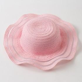 """Шляпа для девочки MINAKU """"Милашка"""", размер 52-54,  цвет розовый"""