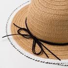 "Шляпа для девочки MINAKU ""Куколка"", размер 50,  цвет бежевый - фото 105565970"