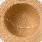 "Шляпа для девочки MINAKU ""Куколка"", размер 50,  цвет бежевый - фото 105565971"