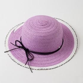 Шляпа для девочки MINAKU «Куколка», цвет фиолетовый, размер 50
