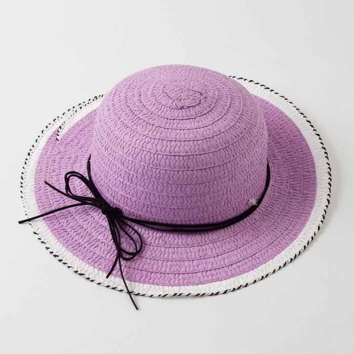 """Шляпа для девочки MINAKU """"Куколка"""", размер 50,  цвет фиолетовый - фото 727038044"""