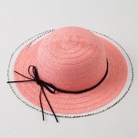 """Шляпа для девочки MINAKU """"Куколка"""", размер 50,  цвет розовый"""