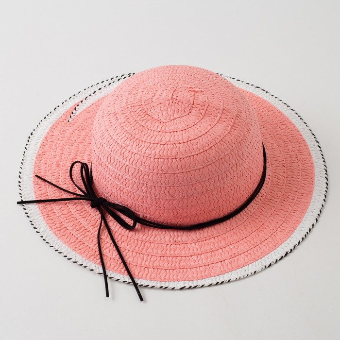"""Шляпа для девочки MINAKU """"Куколка"""", размер 50,  цвет розовый - фото 784328512"""