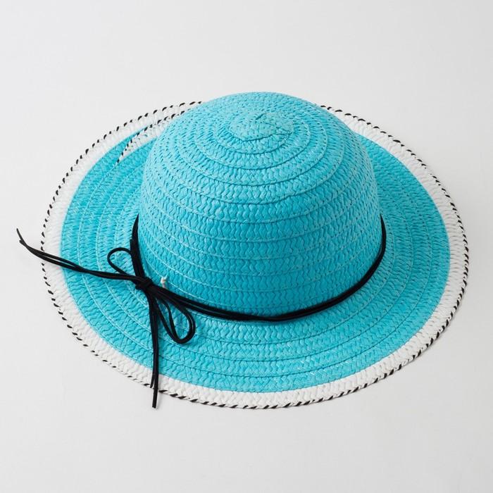 """Шляпа для девочки MINAKU """"Куколка"""", размер 50,  цвет голубой - фото 105565978"""