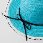 """Шляпа для девочки MINAKU """"Куколка"""", размер 50,  цвет голубой - фото 105565979"""