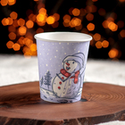 """Paper Cup 250 ml, """"the Snowman"""""""