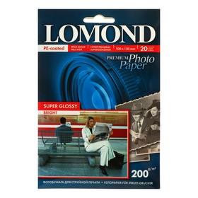 Фотобумага для струйной печати A6 LOMOND Super Glossy, 1101113, 200 г/м², 20 листов, односторонняя, глянцевая