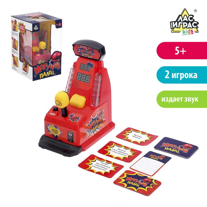 Настольная игра с фантами «Могучий палец», с электронным табло, работает от батареек - фото 725156403