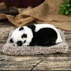 "Fluffy faux fur ""Panda asleep on a pillow"" 10х21,5x17 cm"