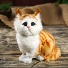 "Fluffy faux fur ""Striped red lion"" 17x17,5x11 cm"