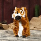 "Fluffy faux fur ""Squirrel with nut"" 19х17х9,5 cm"