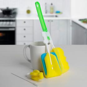 Ёршик для посуды, набор 4 шт, цвет МИКС