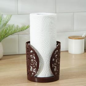 Держатель для бумажных полотенец «Полянка», 13,5×14 см, цвет МИКС