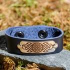 "Bracelet ""good luck"", genuine leather, steel"