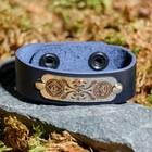 """Bracelet """"Green light"""", natural leather, steel"""