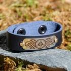 "Bracelet ""Hull"", genuine leather, steel"