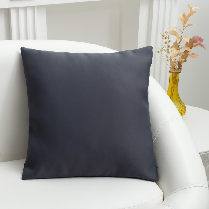 Подушка декоративная «Этель» «Classic» цвет серый, 40×40 см, пл. 210 г/м², 100% п/э - фото 725326180