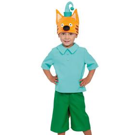 Карнавальный костюм «Кот Компот», рубаха, бриджи, маска, р. 28-30, рост 104-110 см