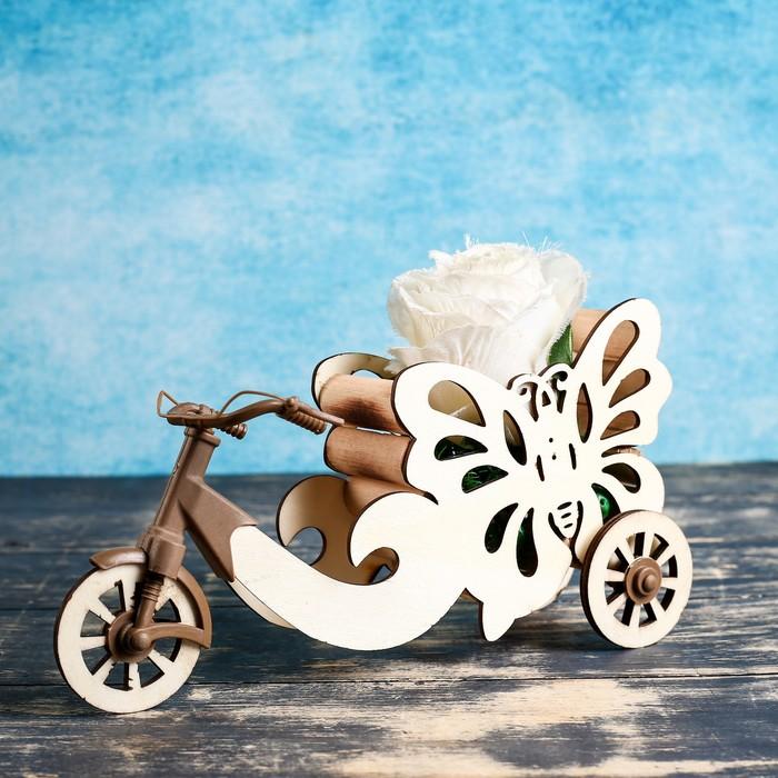 """Кашпо """"Велосипед с бабочкой"""" 26*6*23 см - фото 726613952"""