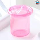 Поильник детский без нанесения с твёрдым носиком 200 мл, цвет розовый - фото 105491216