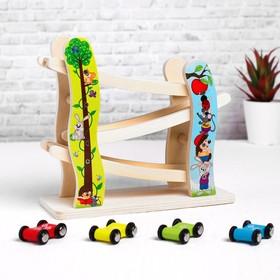 "Деревянная игрушка ""Автотрек"" 9,5х23,5х20,5 см"