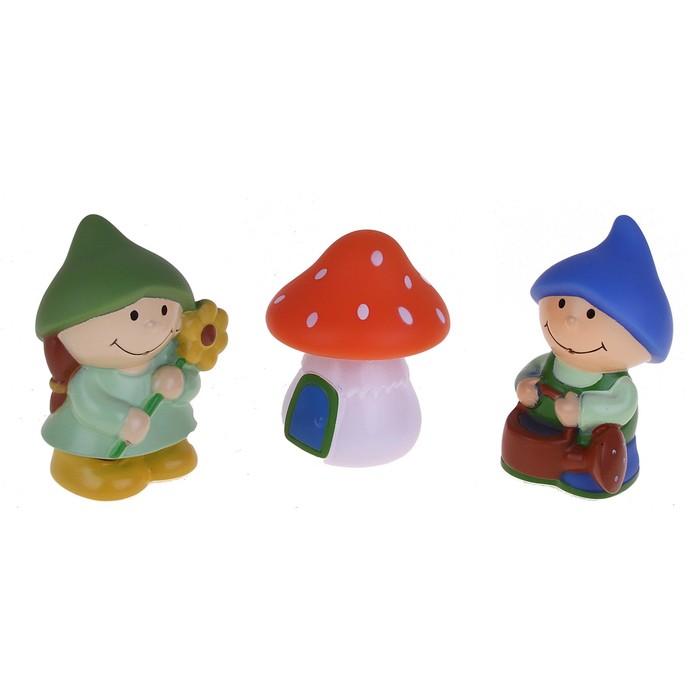 Набор игрушек-брызгалок для ванны «Гномики», 3 шт.