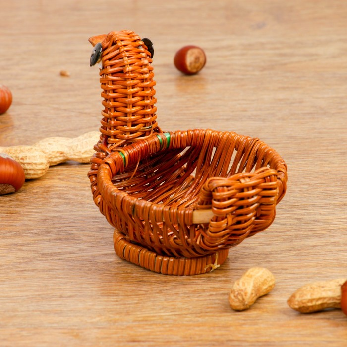 Сувенир «Уточка», 14х8х10 см, бамбук