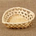 Хлебница «Сердечко», 16×16×4 см, бамбук