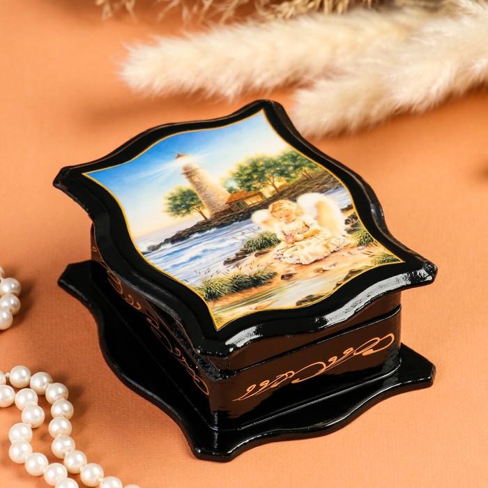 Шкатулка «Ангелы», 10,5×13 см, лаковая миниатюра, микс
