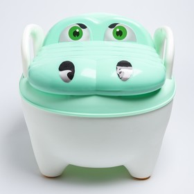 """Горшок детский """"Крокодил"""", цвет зеленый"""