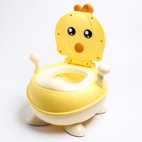 """Горшок детский """"Цыпленок"""", цвет желтый"""