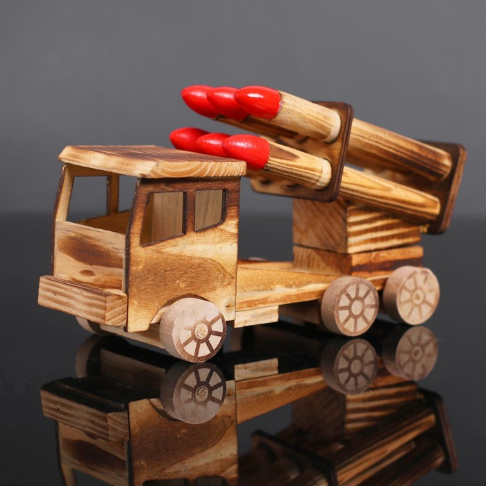 Игрушка деревянная «Катюша» 8×20×12 см - фото 76286897