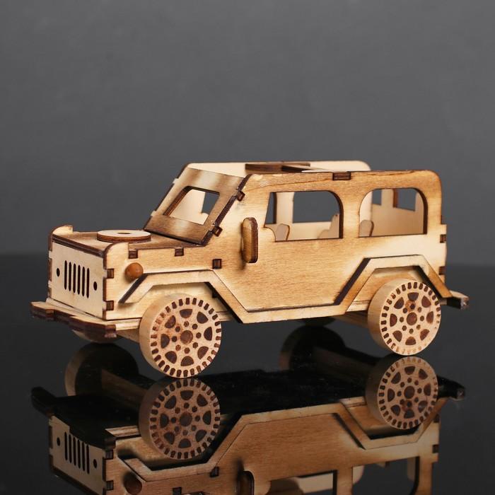 Игрушка деревянная «Автомобиль» 10×21.5×9.2 см - фото 726572472