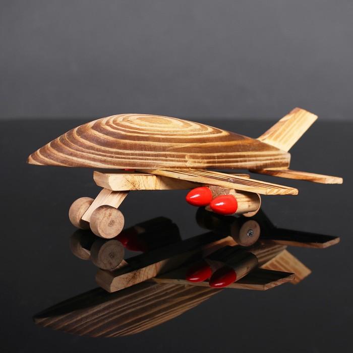Игрушка деревянная «Самолёт» 16×24×10 см - фото 725003493