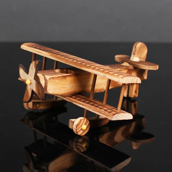 Игрушка деревянная «Самолёт» 19×20×9 см - фото 728138884