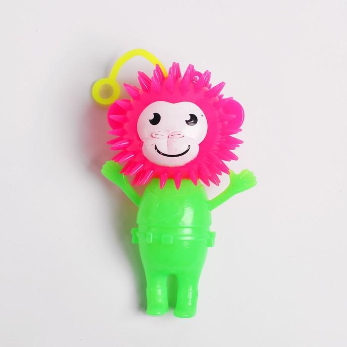 Ёжка световой «Обезьянка», с пищалкой, цвета МИКС