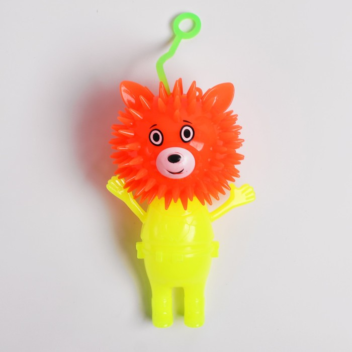 Ёжка световой «Мишка», с пищалкой, цвета МИКС