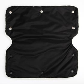 Муфта для рук на санки или коляску меховая, на молнии, цвет черный - фото 3456548