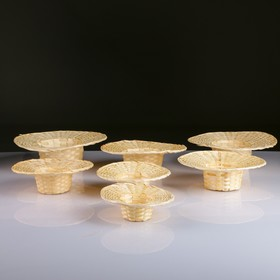 Набор корзин, 7 шт, 27×7, 25×6, 23×5, 22×4,5, 20×4,5, 17×4, 15×4 см, бамбук