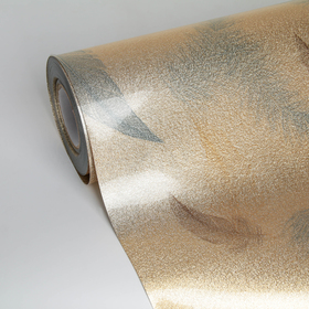 Термоплёнка ПВХ «Пёрышки», ширина 60 см, толщина 0,75 мм, рулон 17 метров