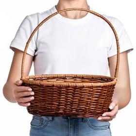 Корзина, 35х28х12/37 см, бамбук, лоза