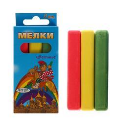 Мелки цветные «АЛГЕМ», в наборе 3 штуки, квадратные Ош